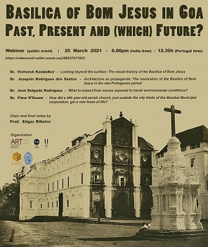 "Webinar: ""Basilica of Bom Jesus in Goa"""